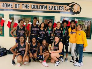 Columbia's girls basketball team defeated Fleming Island on Saturday to win the Battle on the Island. (COURTESY)