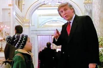 Trump, actor Macaulay Culkin in 'Home Alone 2.' (COURTESY)