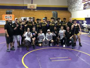 Columbia's wrestling team 3-peated as Tiger Duals champs on Saturday. (JORDAN KROEGER/Lake City Reporter)