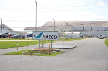 The entrance to HAECO at Lake City Gateway Airport is seen Thursday afternoon. (CARL MCKINNEY/Lake City Reporter)