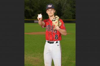 Fort White's Mikah Gustavson had an ERA of 0.00, a 2-0 record and a save with 32 strikeouts in 15.1 innings when his senior season was cut short due to covid-19. The South Georgia State signee was also hitting a team-best .444 with five RBIs, two doubles and seven runs scored. (COURTESY)