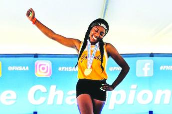 Columbia track & field athlete Asherah Collins was aiming to repeat as the Class 3A state champion in the triple jump when her senior season was cut short due to covid-19. (FILE)