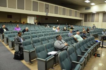 Residents and local officials attend Thursday's County Commission meeting. The big item of the night was a proposed noise ordinance, which was tabled so the board could iron out more details. (CARL MCKINNEY/Lake City Reporter)