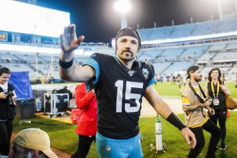 Jacksonville Jaguars quarterback Gardner Minshew looks on after defeating the Indianapolis Colts in a game at TIAA Bank Field on Dec. 29, 2019 in Jacksonville. Minshew was placed on the team's reserve/covid-19 list Sunday. (JAMES GILBERT/Getty Images/TNS)