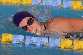 Mackenzie Conklin won the 200 freestyle and 500 freestyle individually. (SHELBY CONKLIN/Special to the Reporter)