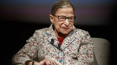 Supreme Court Justice Ruth Bader Ginsburg, pictured at the University of Chicago on Sept. 9, 2019, passed away Friday at 87. (ARMANDO L. SANCHEZ/Chicago Tribune)