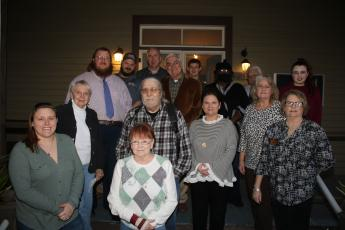 Lake City-Columbia County Historical Museum volunteers recognized for their services included: Michelle Fuller (from row, from left), Pam Parks and Kim Estergren; (second row, from left) Faye Bowling-Warren, Harry Joiner, Iris Colson, Susan Adel; (back row, from left) Christopher Esing, Joshua Fuller, Sean McMahon, Mayor Stephen Witt, Dallin Lear, Leila Williams, Billy Wheeler and Miracle Graham. (TONY BRITT/Lake City Reporter)
