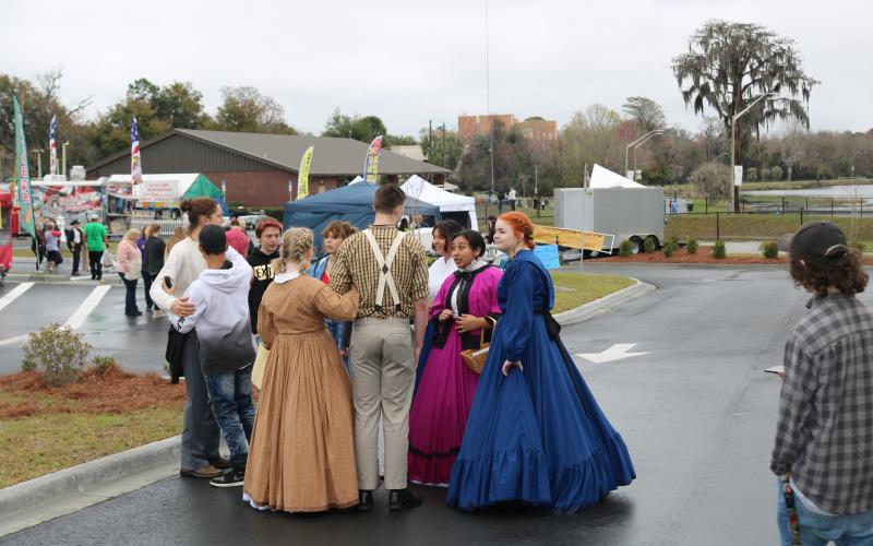 Youngsters in period dress at the Olustee Festival. (TONY BRITT/Lake City Reporter)