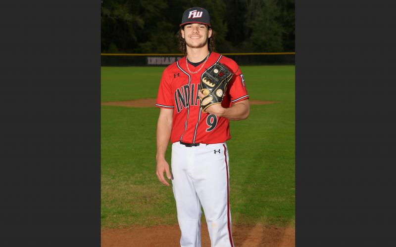 Fort White second baseman Dalton Brooks was hitting .333 with two RBIs and six runs scored when his senior season was cut short due to covid-19. (COURTESY)