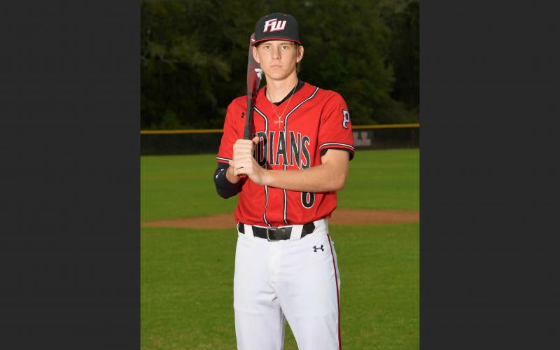 Fort White's Tyler Shelnut had an ERA of 2.05 and a 2-1 record with 27 strikeouts in 13.2 innings when his senior season was cut short due to covid-19. The Florida Gators signee was also hitting .316 with six RBIs, three doubles and a triple with five runs scored. (COURTESY)