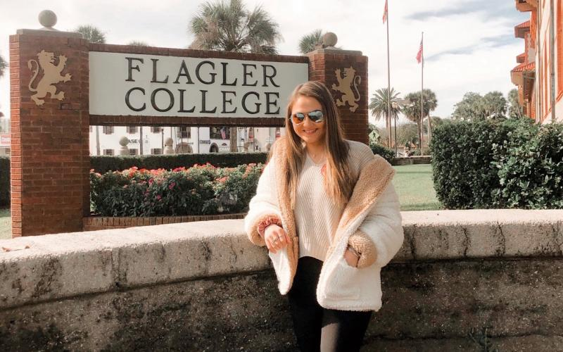 Columbia softball player Lucy Giebeig on one of her visits to Flagler College. (COURTESY)