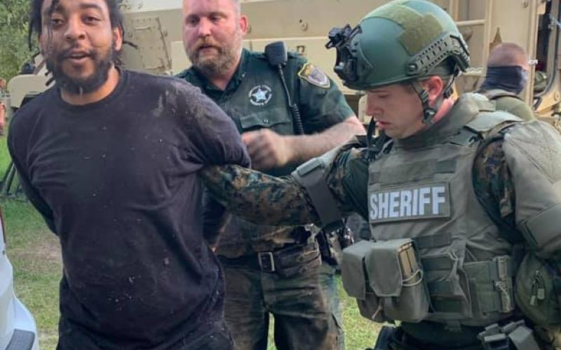 Anthony Riley was arrested Monday by members of the Suwanee County Sheriff's Office SWAT team after he was found hiding beneath a house. (Courtesy Suwannee County Sheriff's Office)