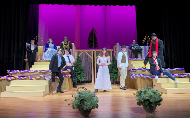 The cast and crew of 'Twelfth Night,' which is presented this week by Florida Gateway College, includes 22 students and community members. (Courtesy Florida Gateway College)