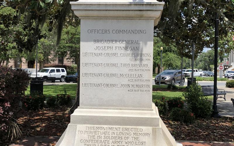 The ownership of the Confederate monument and Olustee Park is still in question and could delay a decision on the future of the monument. (FILE)