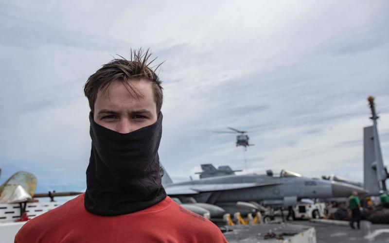 Airman Hunter Peisel, a Lake City native and Columbia High School graduate, is serving aboard the USS Ronald Reagan in the Indo-Pacific region. (COURTESY Navy Office of Community Outreach)