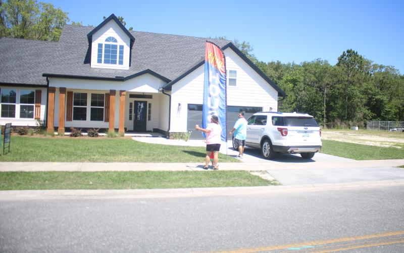 People arrive to look at a house on last year's Parade of Homes. (FILE)