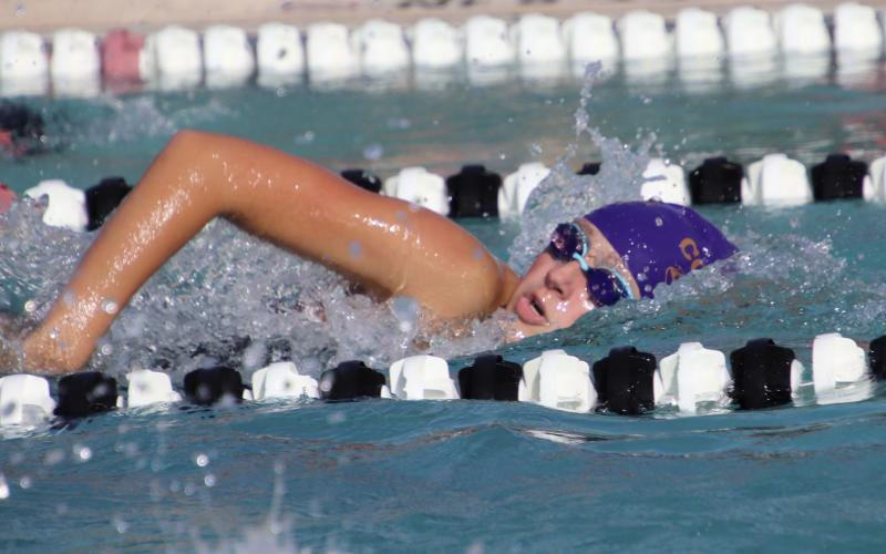 Isabelle Glenn swam on Columbia's 200 medley relay team that won during Thursday's quad meet against Baker County, Baldwin and Suwannee. (SHELBY CONKLIN/Special to the Reporter)