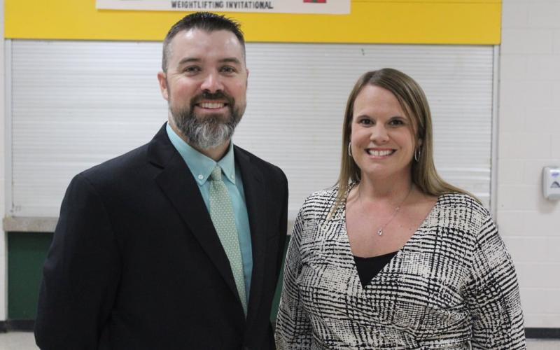 The Suwannee County School District's Principal of the Year was Laura Williams and the Assistant Principal of the Year was Hunter Abercrombie, both of Suwannee Middle School. (COURTESY SUWANNEE COUNTY SCHOOL DISTRICT)