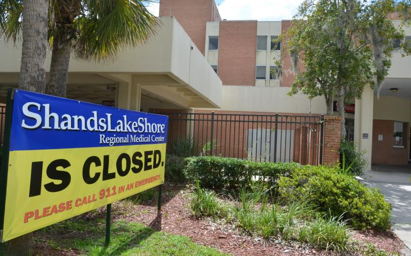 Shands Lake Shore Hospital has been closed since the end of August. The Lake Shore Hospital Authority is looking to schedule meetings soon with companies interested in providing services at the facility. (FILE)